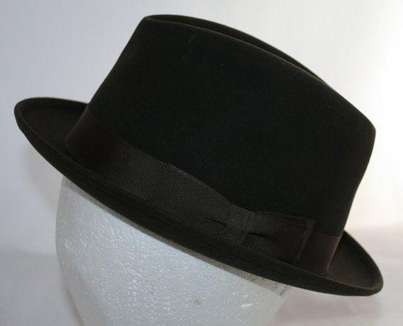 Vintage Men's Stetson Homburg Hat New Old by ilovevintagestuff