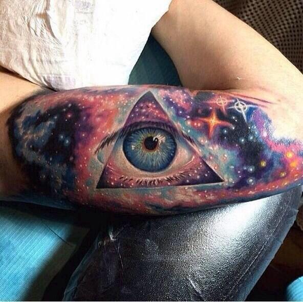 Eye Galaxy Tattoo. So Cool!