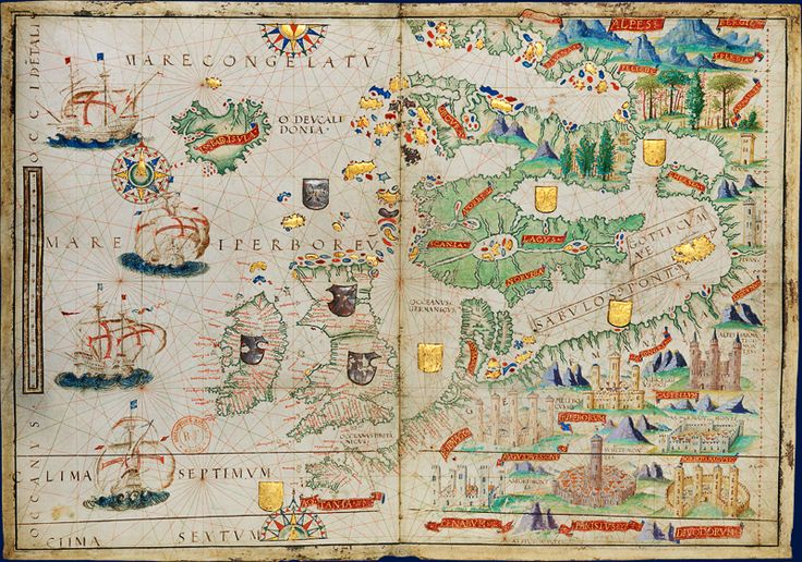 Miller Atlas - Northern Europe - 1519 Source : Bnf