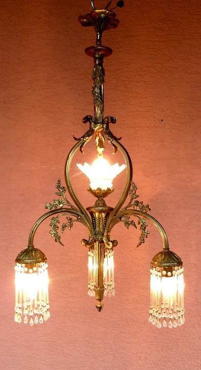 Great Phantastische Jugendstil Lampe um