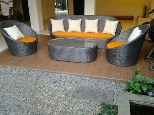 Living set fredy....almunium frame, silver synthetic wicker