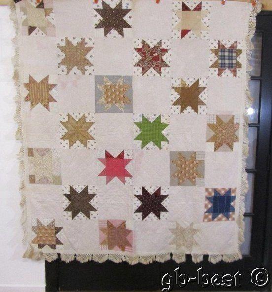 Antique 19th Century Star Quilt Fringed Pre Civil War Fabrics Pennsylvania | eBay