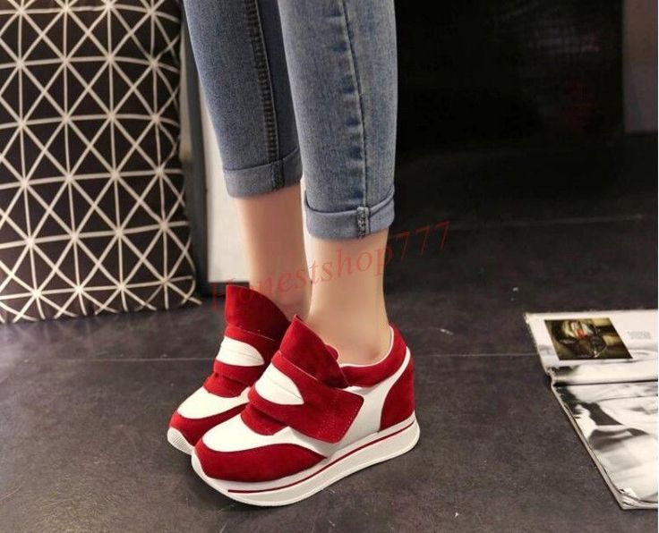 Fashion Women Sports Tennis Sneaker High Heels Breathable Trainers Shoes