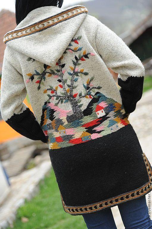 Верхняя одежда ручной работы. Ярмарка Мастеров - ручная работа Вязаное пальто W8. Handmade.