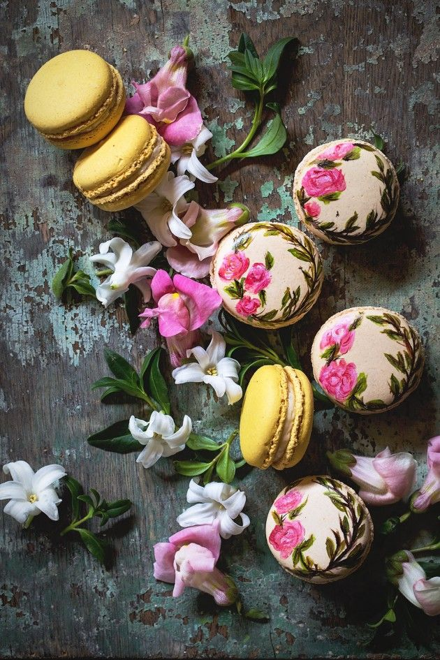 Hand Painted Earl Grey Macarons _ Bakers Royale