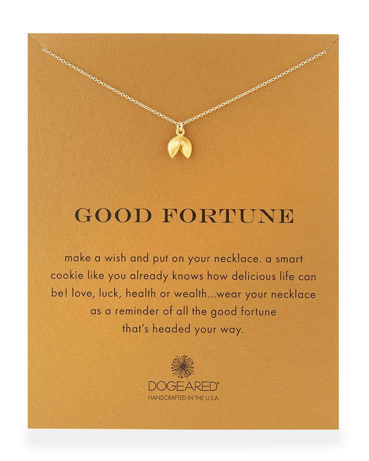 """Gold-Dipped """"Good Fortune"""" Necklace, Size: 18"""", GOLD - Dogeared"""