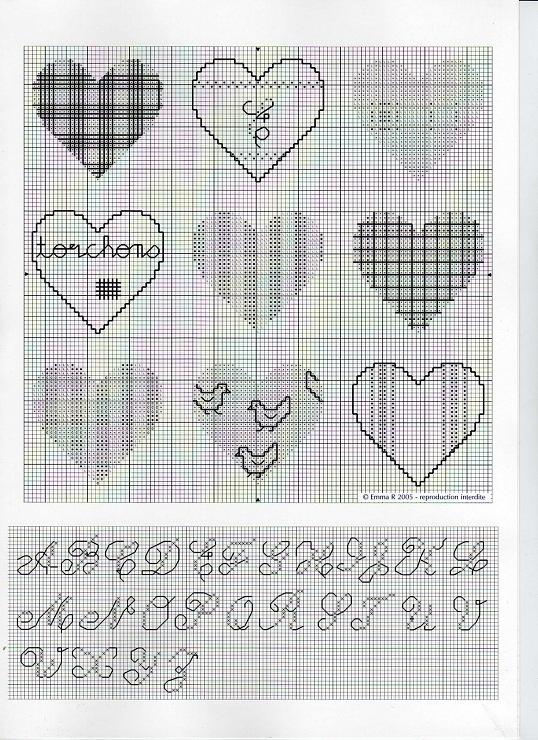 patterned hearts - Gallery.ru / Фото #6 - 3 - Viki-Kitti