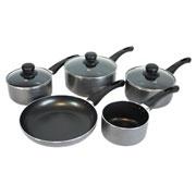 Cookshop Collection 5 Piece Aluminium Pan Set £29.99 #dunelm