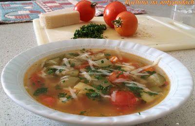 Zupa z ziemniaków i cukinii