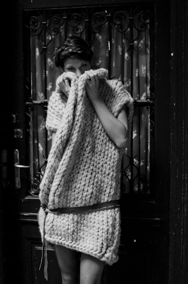 Collection of woolen women's clothing by Jana Mikešová  #wool #fashion #knits #knitting #sweater #dress #janamikesova #shooting #photo #budapest https://www.facebook.com/JanaMikesovaFashionDesigner