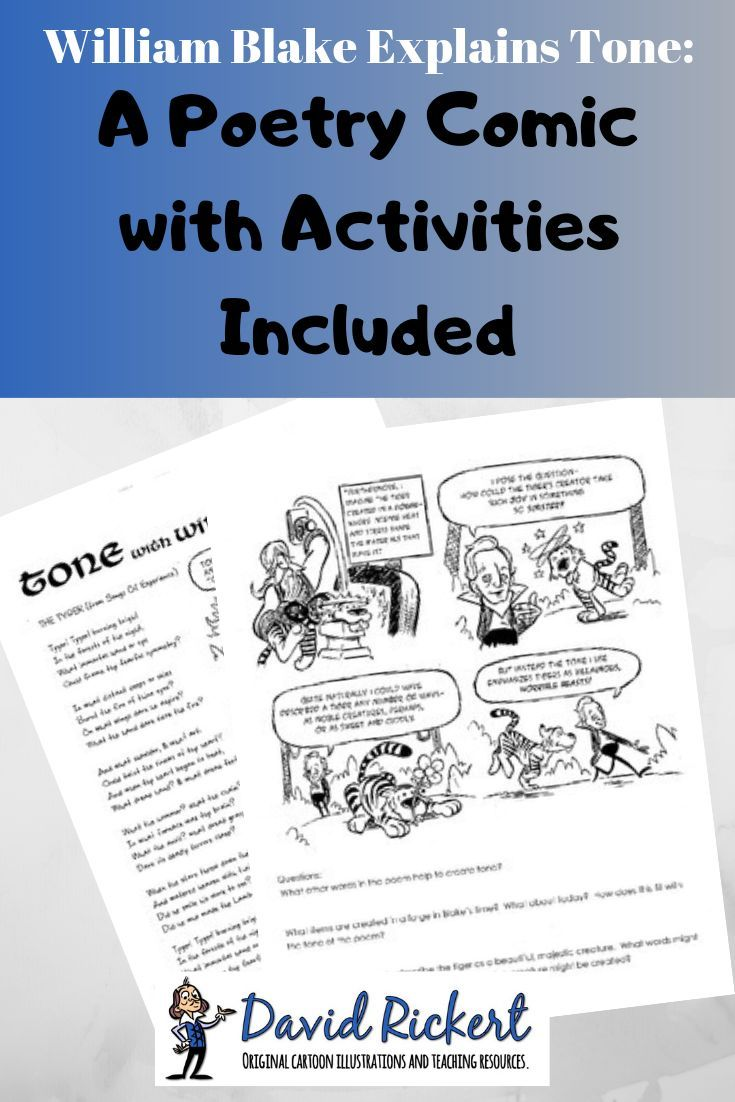 small resolution of William Blake Explains Tone: A Poetry Comic with Activities Included - This  comic teac…   Middle school writing