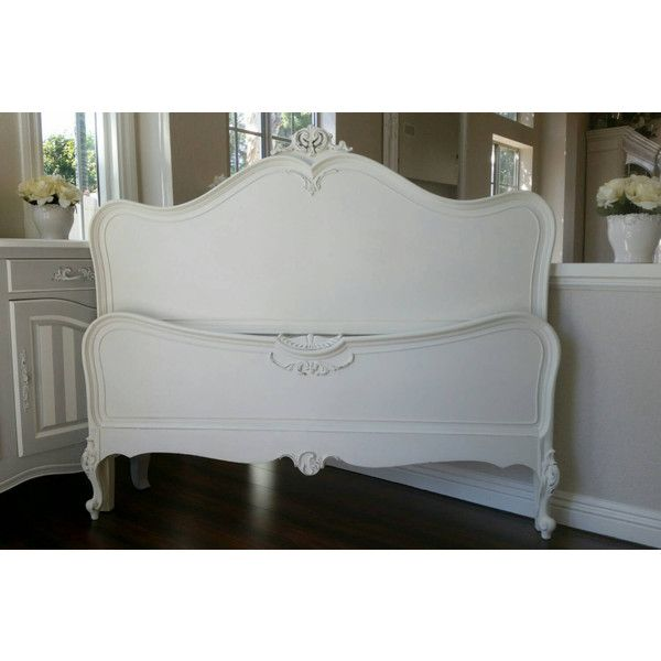 799 liked on polyvore featuring home furniture beds antique white bed beige bed full size bed full size bed furniture and