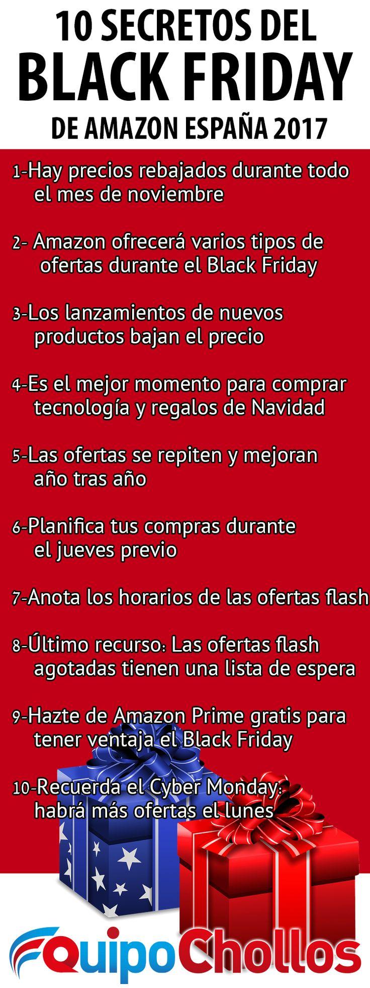 10 secretos y trucos para comprar en Amazon durante el Black Friday 2017 España. Aprovecha ofertas flash, el Cyber Monday, Amazon Prime y más. #Blackfriday #España #2017 #Navidad #chollos #ofertas