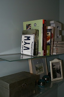 repurposed licence plate: book end