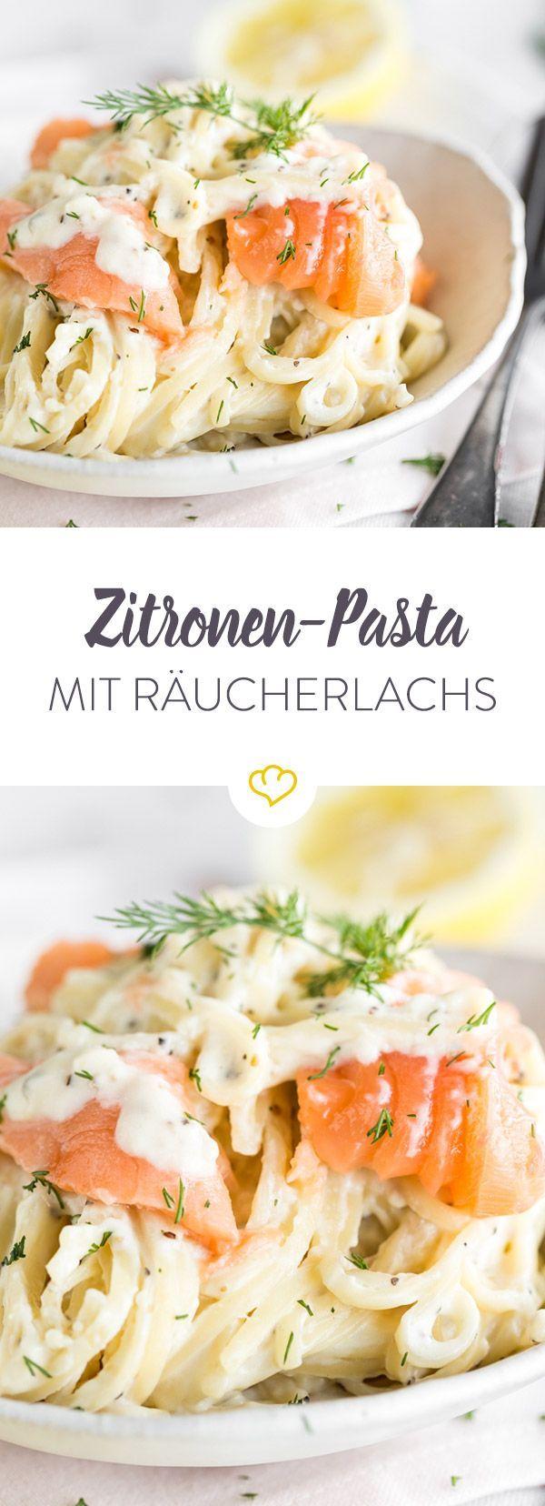 Eine Pasta zum Verwöhnen - mit Zitrone und Lachs. Und einer ordentlichen Portion Crème fraîche. Nudelglück vom allerfeinsten - in nur 20 Minuten.