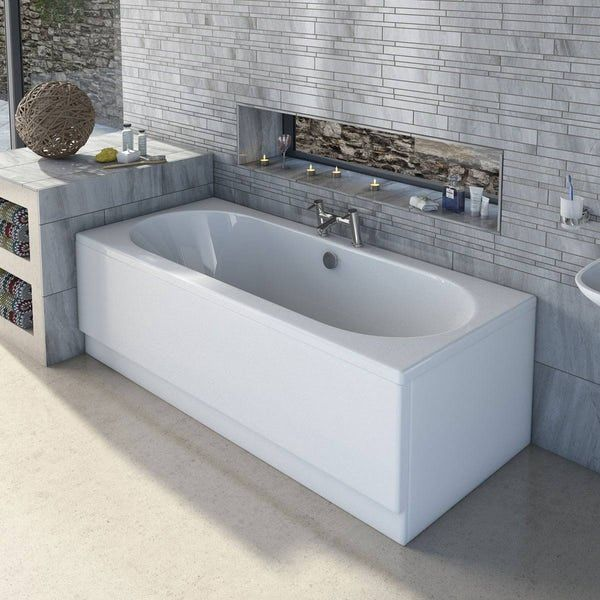 Orchard round edge double ended bath with acrylic front