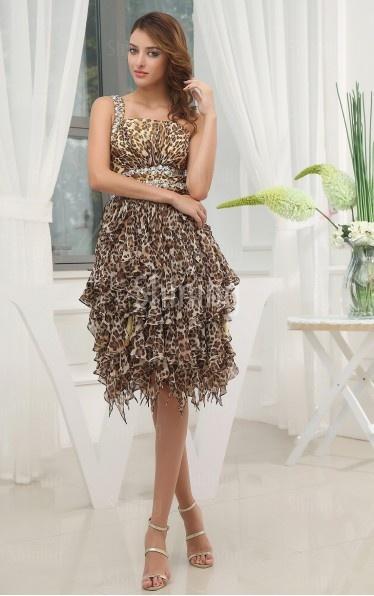 Multi Colours A-line Tea-length One Shoulder Dress $116 on shiningdress.com