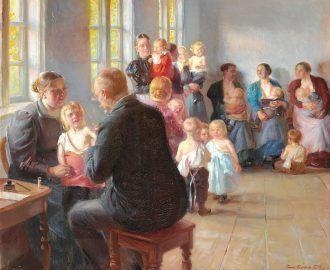 Anna Ancher: A vaccination. 1899   Skagens Kunstmuseer    Art Museums of Skagen
