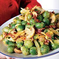 Recept - Kerriespruitjes met prei, champignons en spekjes - Allerhande