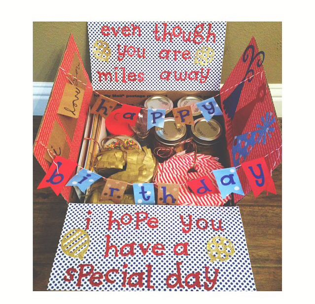 Even though you're miles away, we hope you have a special day!Care Package for birthday or just because.