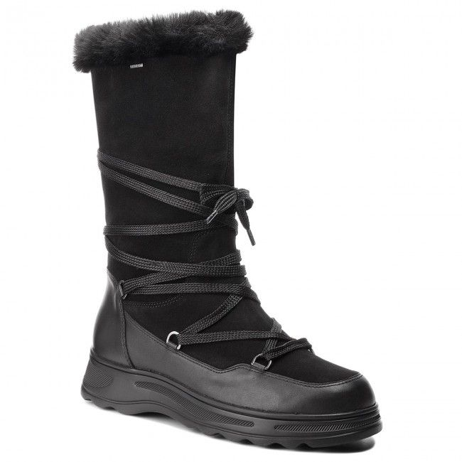 Sniegowce Geox D Hosmos B Abx B D84aub 02285 C9999 Black Boots Geox Black