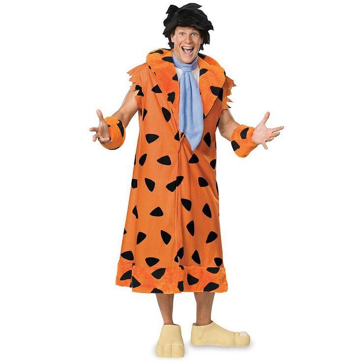 Plus Size Flintstones Fred Flintstone Costume - Adult Plus, Men's, Orange