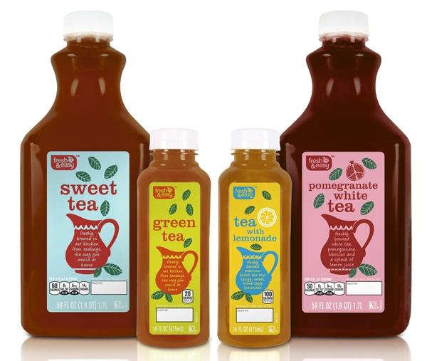 New! F - FRESH ICED TEAS #packaging #design #graphics #icedtea