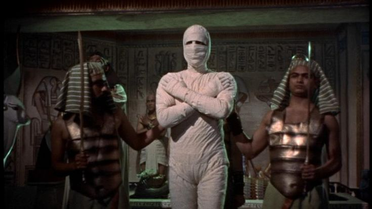 Christopher Lee cursed to be an eternal guardian in The Mummy 1959.