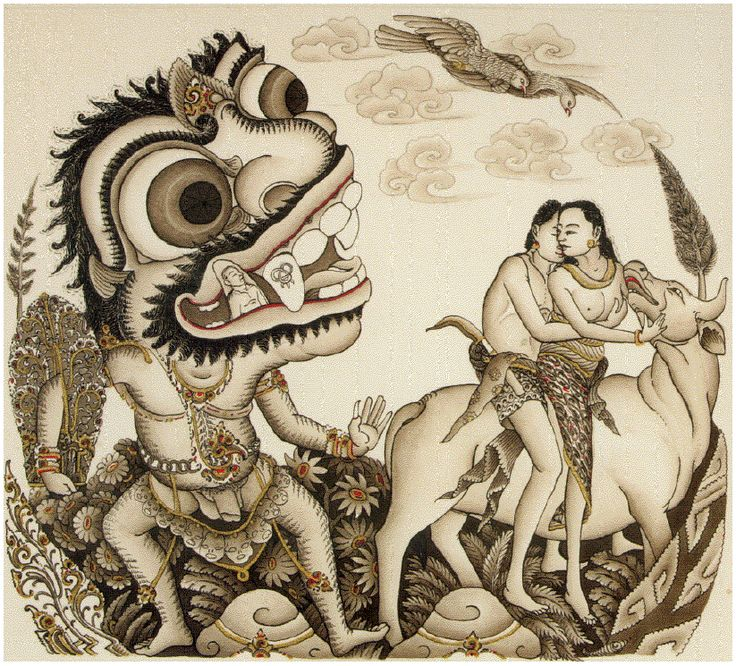 Balinese Painting by Rudolf Bonnet