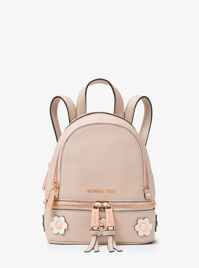 4063043c0ef MICHAEL Michael Kors Rhea Mini Floral Applique Leather Backpack ...