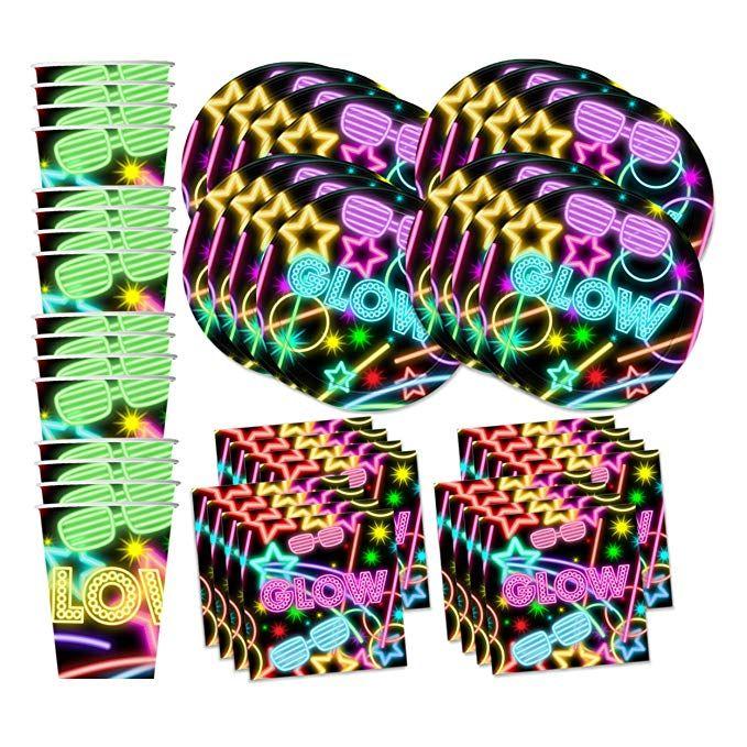 Glow Birthday Party Supplies Kit