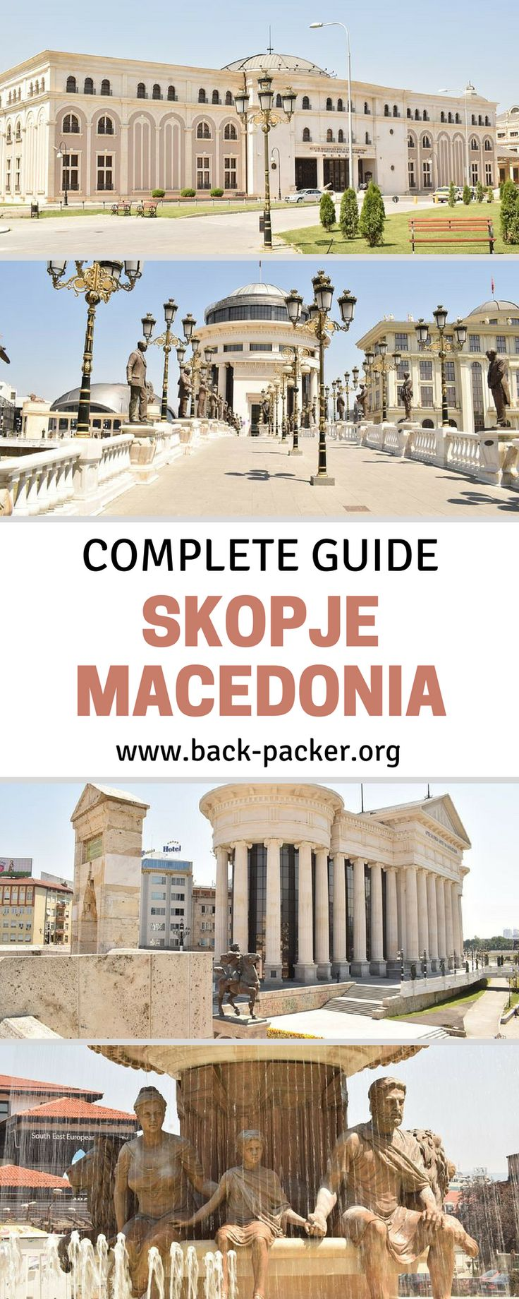 10 of the best things to do and see in Skopje, the capital city of Macedonia. Skopje is the perfect starting point for travel in Macedonia and also fits perfectly into a larger Eastern Europe road trip as a stop between Sofia, Tirana and Kosovo. | Back-packer.org #Skopje #Macedonia