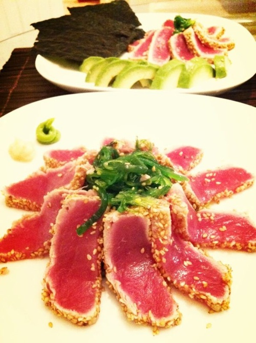 Seared Tuna for Hand-roll Sushi | AutoImmune Paleo Recipes | Pinterest