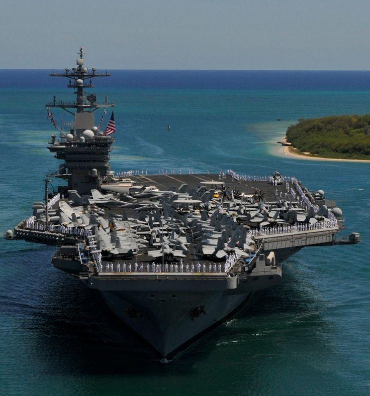 USS Carl Vinson entering Peal Harbor