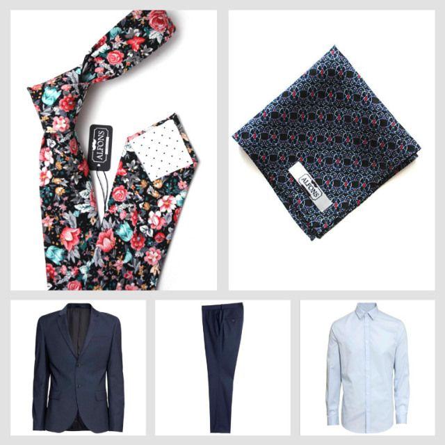 Květinové kravaty a jejich kombinování: 6 inspirativních outfity.  Inspirational floral tie outfit.