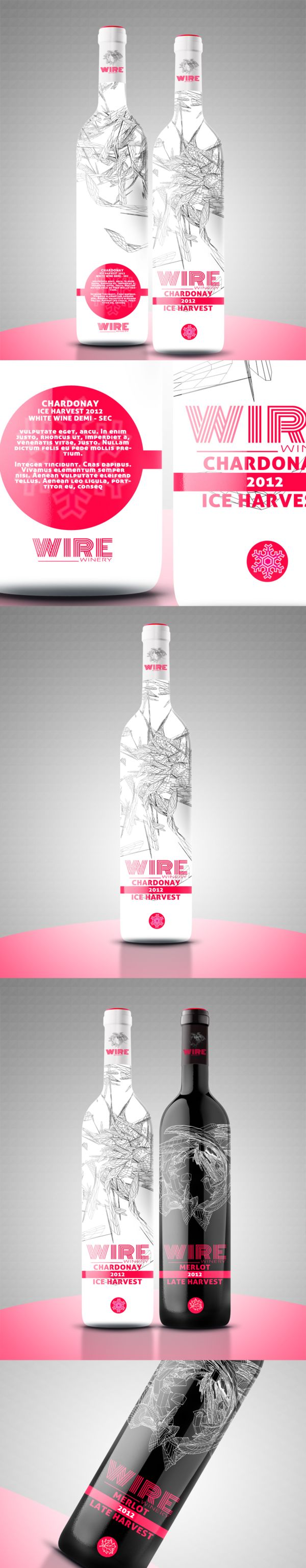 WINE BOTTLE DESIGN - BLACK & WHITE EDITION by Provoco , via Behance. love this #wine #packaging PD