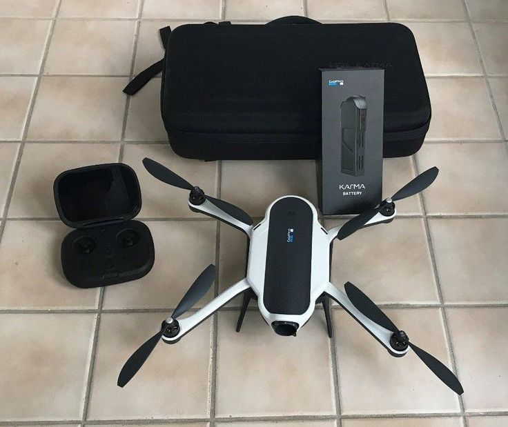 GoPro Karma Drone with Case & Extra Battery - No Camera Karma Grip or Gimbal