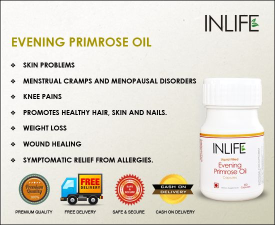 Evening of primrose oil uses