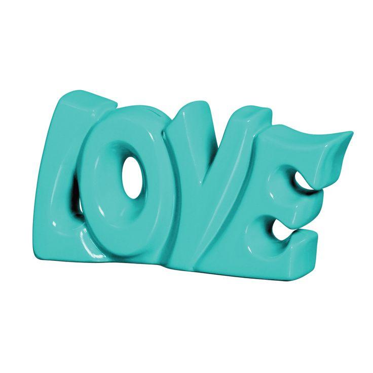 Palavra amor em cer mica decorativa perfeita para os for Ceramica decorativa pared