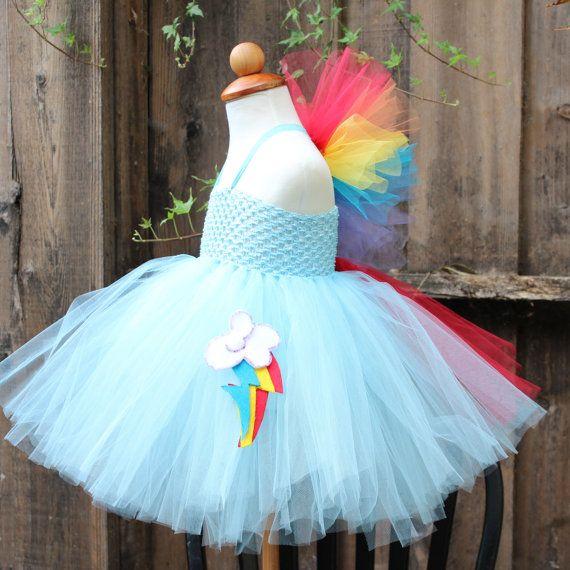 Rainbow dash Costume Rainbow Dash Dress My Little di BloomsNBugs, $59.00
