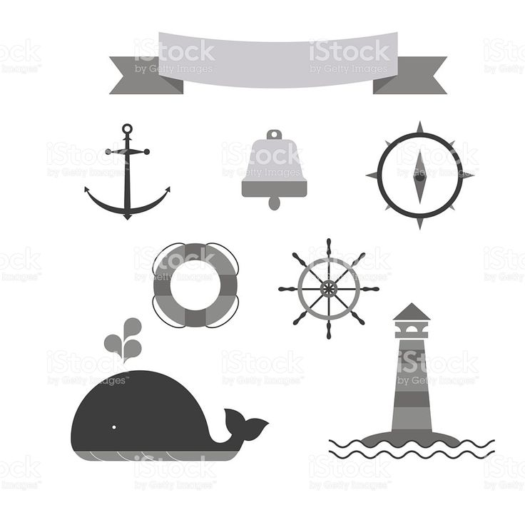 Marine set of icons royalty-free stock vector art