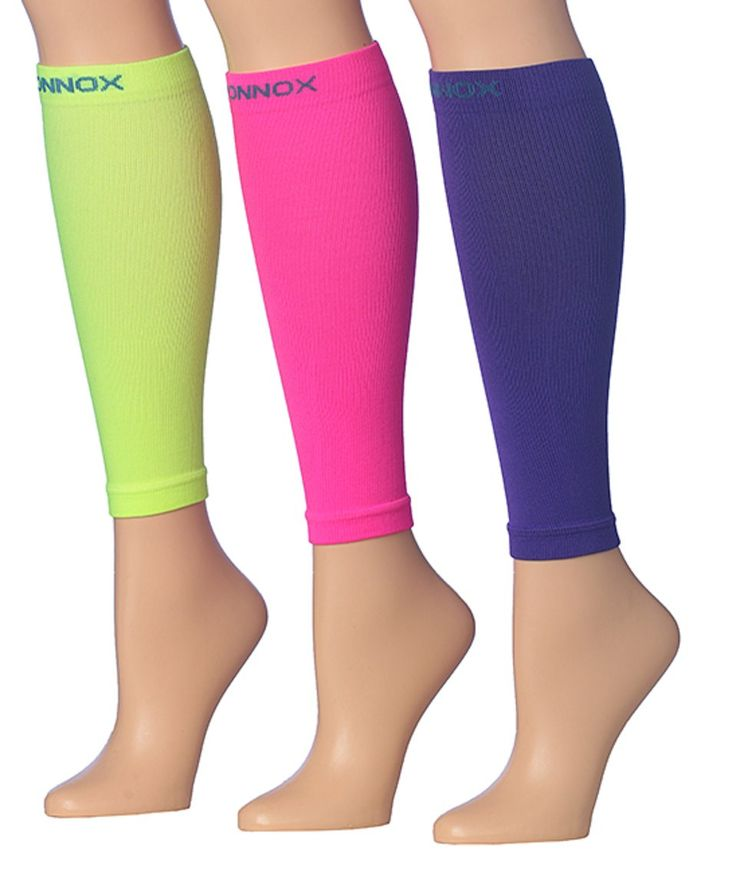 Take a look at this Pink & Purple Graduated 12-14 mmHg Compression Calf Sleeve Set today!