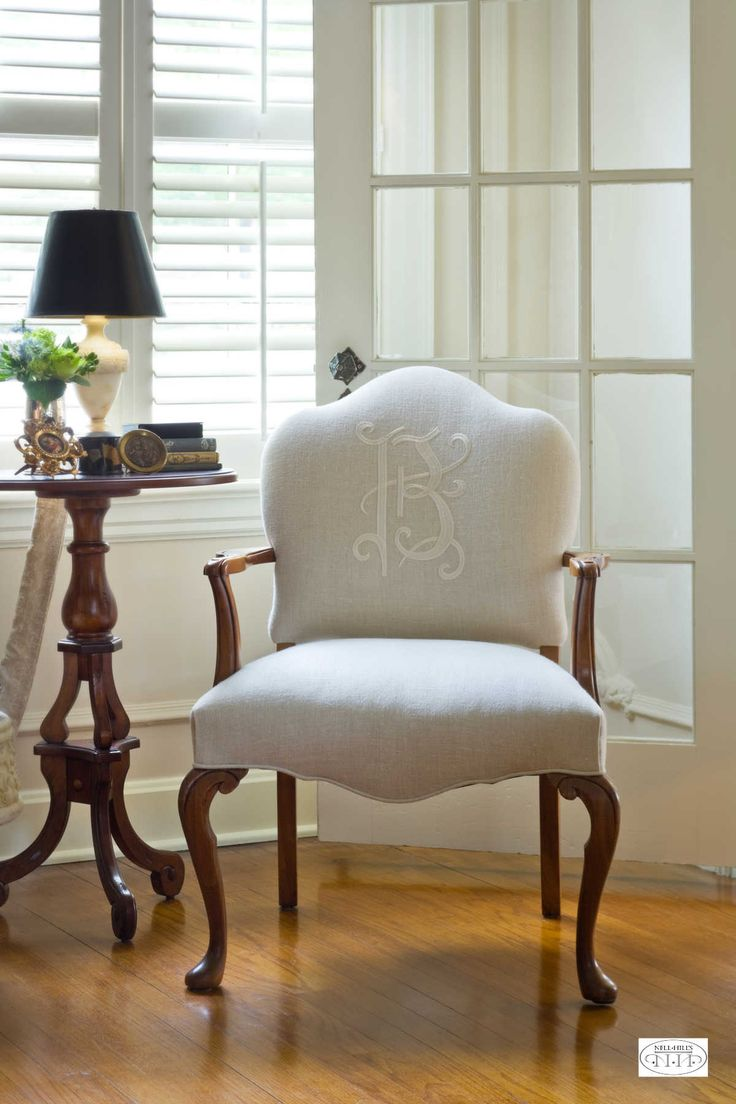 Try A Tone On Tone Monogram To Add Zip To A Neutral Chair.