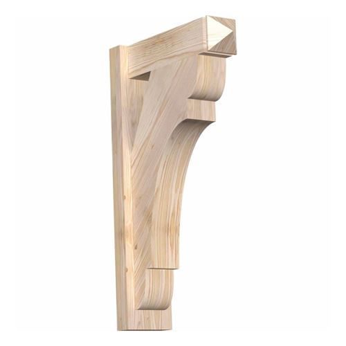 This Restorers Rustic Olympic Arts & Crafts Outlooker Bracket from the Rustic Collection is an instant classic. This Rustic wood millwork utilizes the technologies of today to build the 'log and timber' wood products that have been in architecture for centuries.  #DecorativeWood #RusticWood #DecorativeBrackets #Brackets #VanDykes