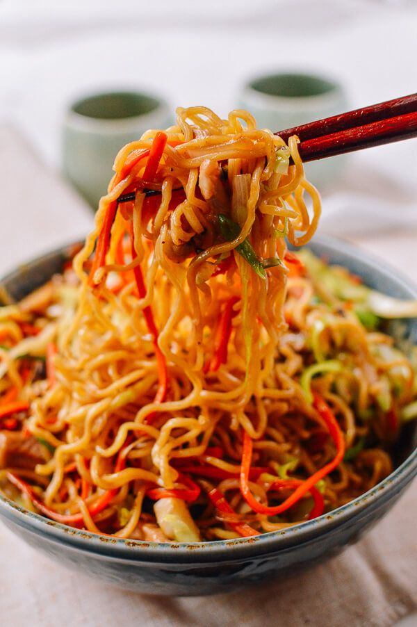 Chicken Yakisoba is a popular Japanese noodle stir-fry that's super easy to make at home. Our recipe also has a ton of fresh vegetables in it! @thewoksoflife