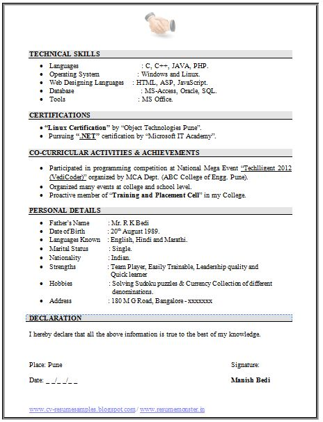 Resume Format For Freshers Engineers. Best 25+ Best Resume Format