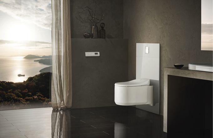 Sofistikovaný doplněk ke sprchovým toaletám Sensia Arena – dekorativní skleněné moduly GROHE
