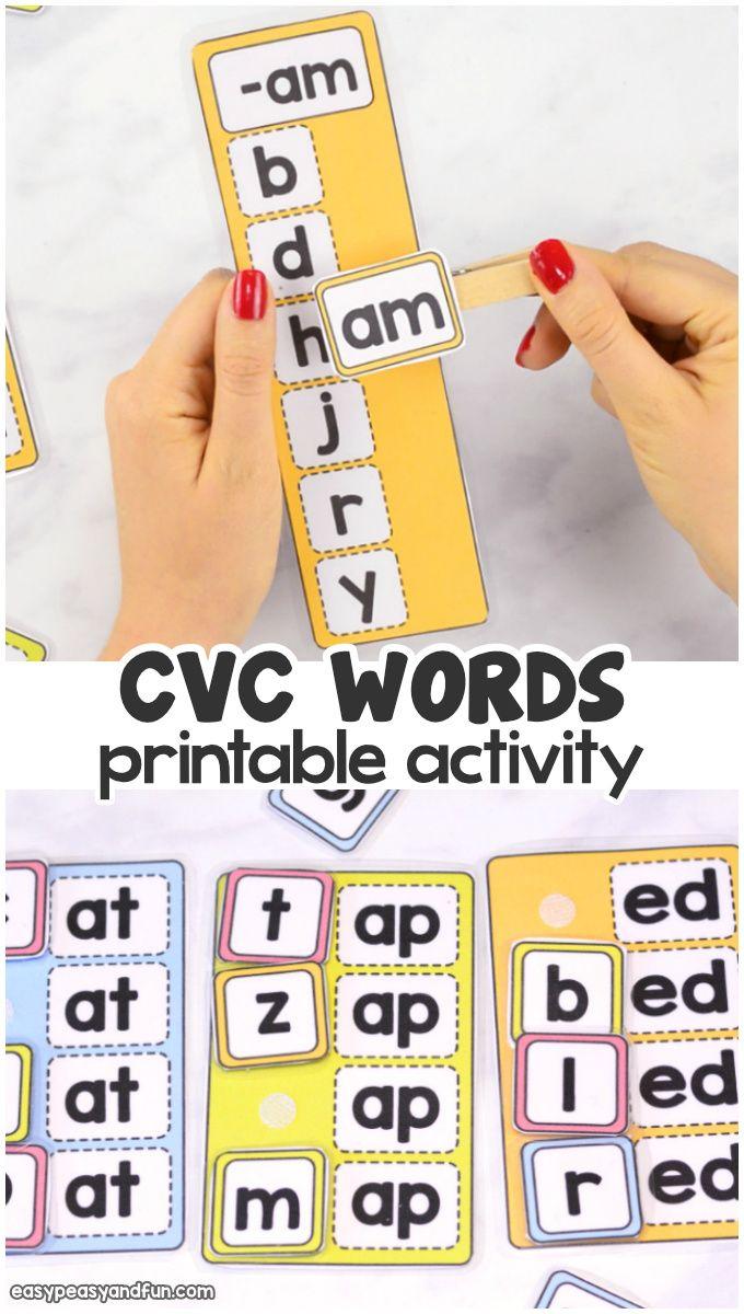 CVC Words Activity Cvc word activities, Cvc words