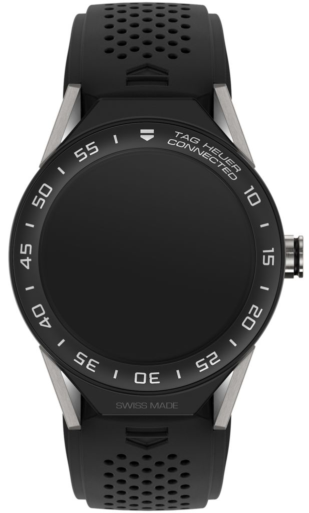TAG Heuer Watch Connected 2 Modular 45 Smartwatch #basel-17 #bezel-fixed #bracelet-strap-rubber #brand-tag-heuer #case-material-titanium-black-pvd #case-width-45mm #delivery-timescale-call-us #description-done #dial-colour-lcd #gender-mens #luxury #new-product-yes #official-stockist-for-tag-heuer-watches #packaging-tag-heuer-watch-packaging #smart-watch #style-dress #subcat-connected #supplier-model-no-sbf8a8001-11ft6076 #warranty-tag-heuer-official-2-year-guarantee #water-resistant-50m