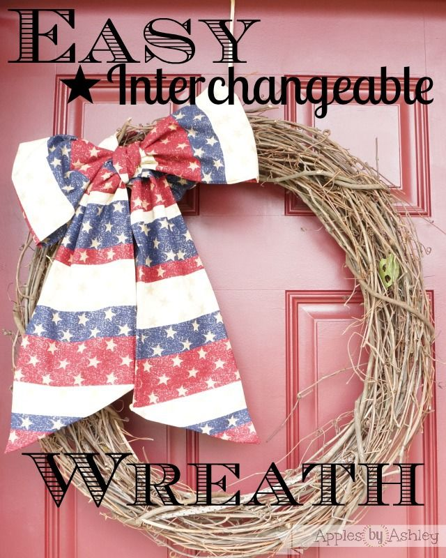 Apples by Ashley: Easy Interchangeable Wreath